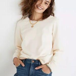 Madewell Cream 'Stitched Shrunken Sweatshirt'